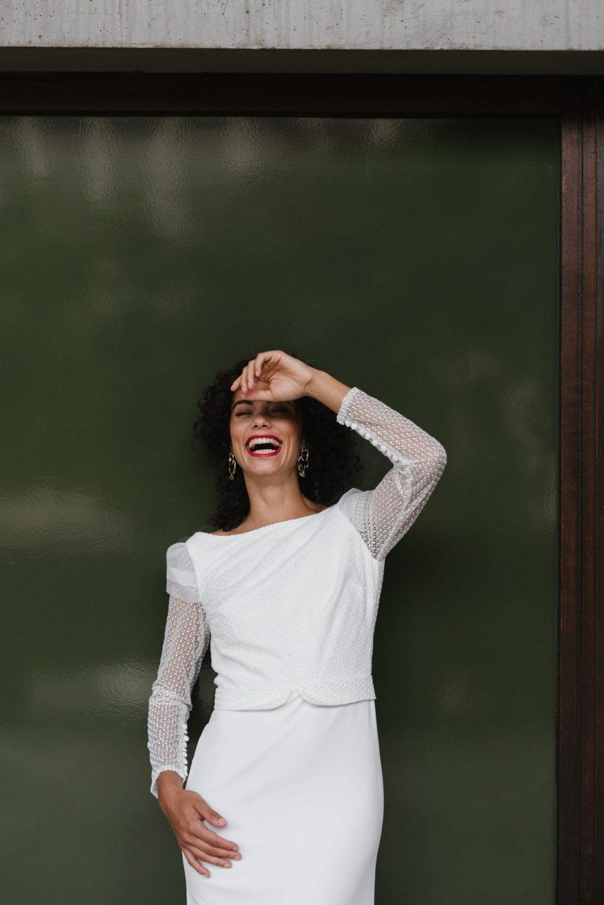 Clémentine Iacono - Créatrice de robes de mariée sur-mesure à Lyon - Caroline