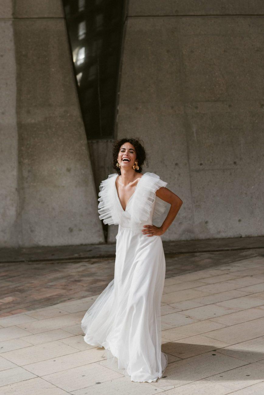 Clémentine Iacono - Créatrice de robes de mariée sur-mesure à Lyon - Hélène