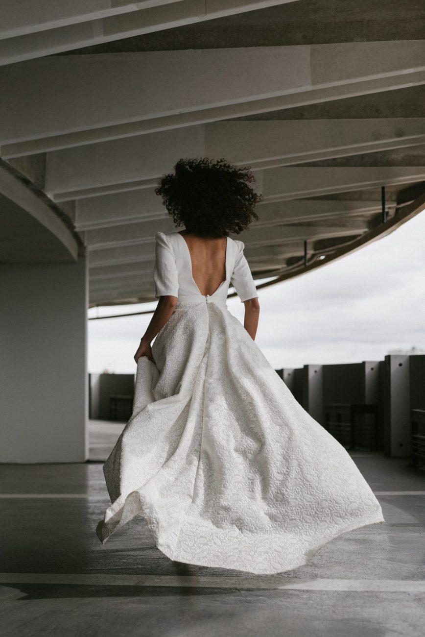 Clémentine Iacono - Créatrice de robes de mariée sur-mesure à Lyon - Quitterie