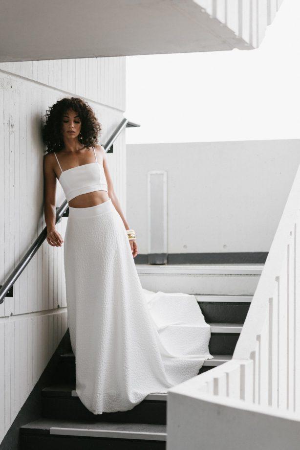 Clémentine Iacono - Créatrice de robes de mariée sur-mesure à Lyon - Romy